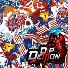 American Sticker Bomb Usa 4Th Hydrographic Water Transfer Film Hydro Dip Dipping