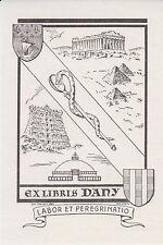 § Ex-libris DANY, dessiné par Charles FAVET (1899-1982), opus 637 §