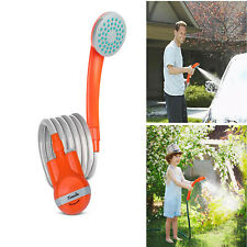 Portable Outdoor Shower Water Pump Rechargeable Nozzle Battery-Powered Travel US