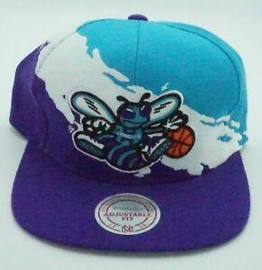 NBA Charlotte Hornets Mitchell & Ness Adult Adjustable Paintbrush Cap M&N NEW