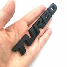 3D Black TURBO Letter Sports Metal Decal Graphics Stickers Car Trunk Body Hoods