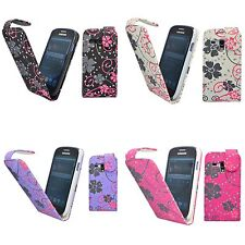 CASE FOR SAMSUNG GALAXY S3 MINI GLITTER FLIP FLOWER SWIRL PU LEATHER POUCH COVER