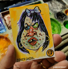 Topps Wacky Packages Original Art Sketch Card 1/1 Cover Ghoul