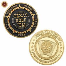 WR Poker Chip Card Guard Casino Texas Hold Small / Big Blind Valuable Gold Coin