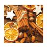 20 Servietten 3 lagig 33x33cm Weihnachten Abendessen Orangen Nüsse Zimt #004