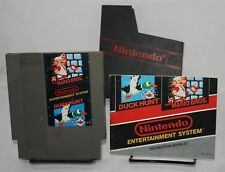 Super Mario Bros Duck Hunt Nintendo NES With Dust Cover & Instructions