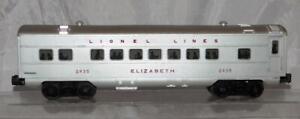 Lionel Trains 2435 Elizabeth red letter streamline passenger car 1954-58 Postwar