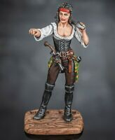 Toy Soldiers Painted Pirate Woman with Saber 1/32 Female miniature 54mm Figure