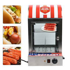 New Listingcommercial Vertical Electric Hot Dog Steamer Bun Food Warmer Display Showcase