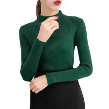 Knitted Sweater Slim Jumper High Neck Ladies Sweaters Pullovers Bottoming Shirt
