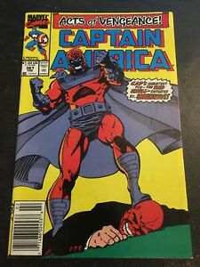 Captain America#367 Awrsome Condition 8.0(1990) Magneto Vs Red Skull