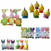 Kids Easter Party Home Cute Decor Easters Bunny Chicks Eggs Festive Crafts 3pcs