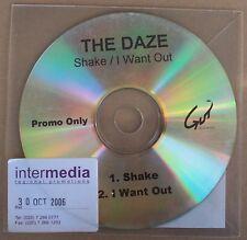 THE DAZE Shake 2 track CD PROMO Punk Blues Fuzz Garage Rock London UK band