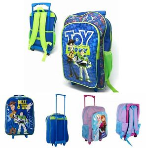 Toy Story 4 /Frozen Large Kids Luggage Trolley Backpack  Bag Suitcase On Wheels
