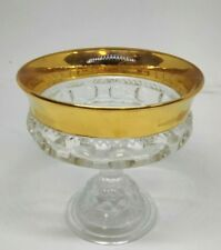 """vintage glass gold trim chalice 5"""" Heavy Display Cup - Antique Look"""