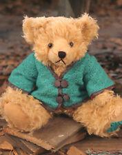 Teddy Bear 'Lee' Settler Bears Handmade Collectable Gift Green Cardigan 30cms