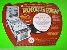 DOUBLE PLAY By WILLIAMS 1965 ORIGINAL BASEBALL PITCH & BAT PINBALL MACHINE FLYER
