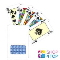 COPAG BRIDGE SIZE PLAYING CARDS DECK 100% PLASTIC BLUE BACK WHITE BOX NEW