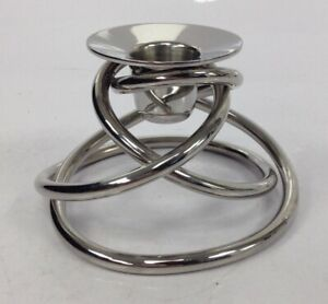 Georg Jensen Wavy Modern Style Contemporary Candle Holder Good Condition