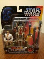 """MOC Star Wars: Luke Skywalker Desert Sport Skiff 3.75"""" Deluxe Action Figure 1996"""