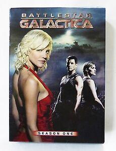 Battlestar Galactica season one set of 5 DVD used Edward James Olmos Jamie Bam
