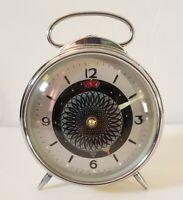 Vintage Sputnik Satellite Shanghai Alarm Clock Optical Mosaic Movement 1960's
