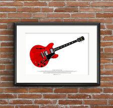 Eric Clapton's Gibson ES-335 Cream Guitar  ART POSTER A2 size