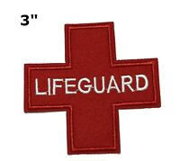Lifeguard MEDIC Cross EMT Medical First Aid Embroidered Patch Iron Sew-on