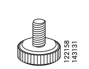 1x Ikea Adjustable Feet foot M6 Plastic Black Steel 15mm Height Part # 122158