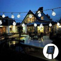 5m LED Solar Kugel Lichterkette Garten Außen Outdoor Beleuchtung Deko Lampe DHL