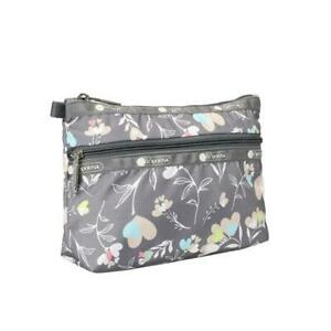 LeSportsac Classic Collection Cosmetic Clutch Make Up Bag in Lovely Day NWT