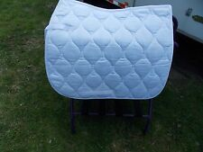 PAGONY ENGLISH ALL PURPOSE SADDLE PAD HORSE WHITE SPINE 24 FLAP 21 WIDTH 25