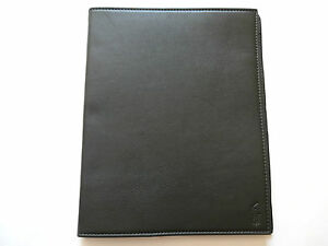 New Ralph Lauren Collection Hard Dark Olive Green Leather Ipad Tablet Case