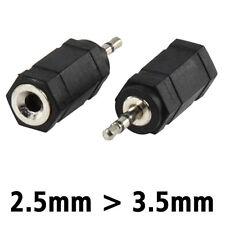 AUDIO ADAPTER - 2,5 mm Klinke Stecker auf 3,5 mm Klinke Buchse Kupplung - Stereo
