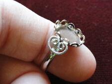 Mushroom Ring Silver Plate Adjustable 8x10mm Bezel Pkg of 3- 0198 small ring