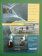 6/1997 PUB AVION PILATUS PC-12 BUSINESS AIRCRAFT FLUGZEUG ORIGINAL ADVERT