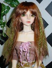 """Doll Wig, Monique Gold """"J-Rock"""" Size 8/9  - Auburn-Lime"""