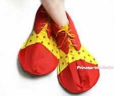 Halloween Fun Party Hot Red Yellow Red Dots Extra Large Clown Shoes Costume