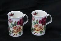 Roy Kirkham English Summer Roses Mugs 2003 Lot of 2