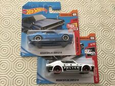 Hotwheels Nissan 2000 GT-R 2018 & 2019 released blue and white Police MOC
