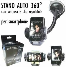 STAND SUPPORTO VENTOSA SMARTPHONE AUTO PER APPLE IPHONE 6 6S 6+ PLUS