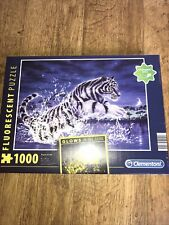 Clementoni Power Of Life Tiger 1000 Piece Fluorescent glow in dark puzzle Sealed