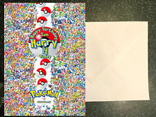 Pokemon **Personalised Birthday Card** Any Name/Age/Relation