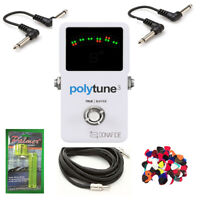New TC Electronic Polytune 3 Tuner Guitar Bass w/ Free Cable, Winder, & Pics