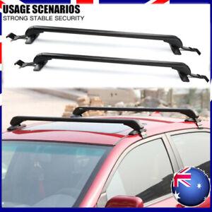 Universal Car Top Roof Rack Cross Bars Aluminum Alloy Aero Lockable 90-100CM