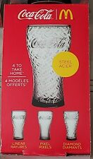 Coca-Cola Glass 2017 McDonald's Limited Edition Contemporary collection (Steel)