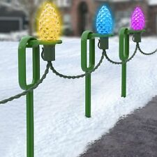 """25 Adams """"Easy Push"""" 10"""" Heavy-Duty Light Stakes - Commercial Christmas Hardware"""