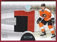 MATT READ RC 2011-12 ULTIMATE COLLECTION DEBUT THREADS PATCH #71/100 FLYERS