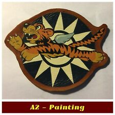 WW2 Hand Painted Flying Tigers Patch For A2 G1 Flying Jacket