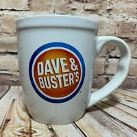 Dave & Busters Logo Coffee Mug 16 oz Restaurant Ware Oversized Grip Handle